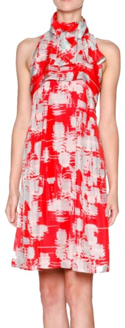 Item - Red Multi Cocktail Dress Size 4 (S)