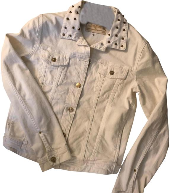 Item - White with Gold Studs 06394243250044 Jacket Size 12 (L)