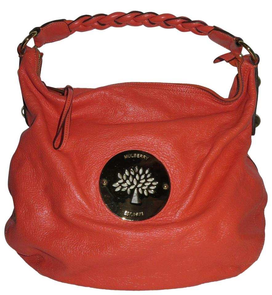 b07bf91889e6 Mulberry Daria Medium Coral Leather Hobo Bag - Tradesy
