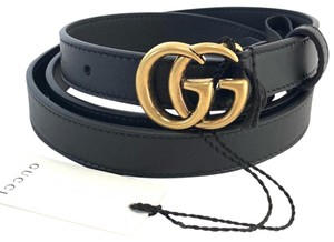 5b20507d45f Gucci Black Leather with Double G Buckle Size 85 Belt - Tradesy