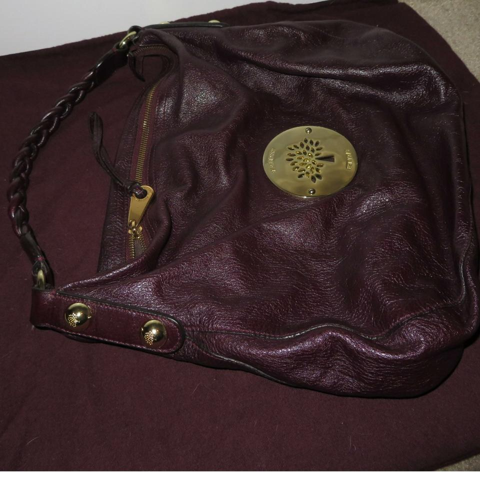 9ab2cecae553 Mulberry Daria Medium Grape Leather Hobo Bag - Tradesy