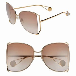 35a54822ca Gucci oversized butterfly GG0252S 003. Gucci Gold Gradient Brown Oversized  Butterfly Gg0252s 003 Sunglasses
