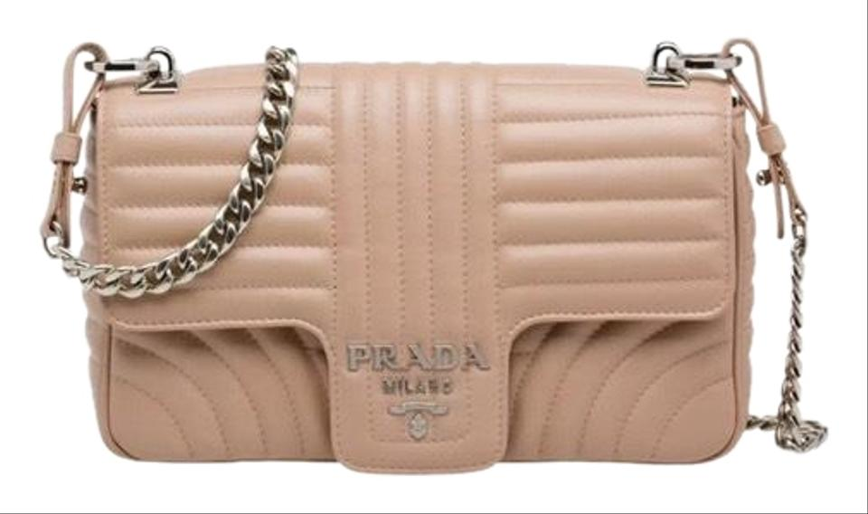 32fc6ca0 Prada Medium Diagramme Beige/Natural (Cipria) Calfskin Leather Shoulder Bag  38% off retail