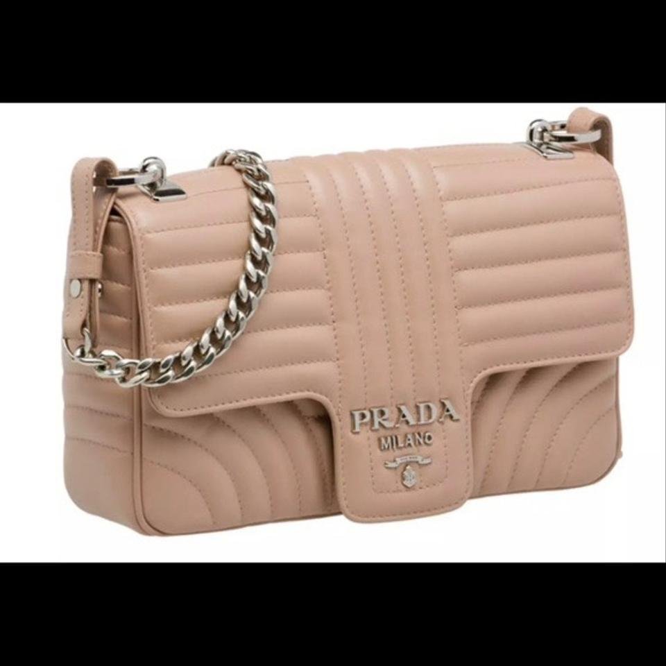 03e6e4ce65d15d Prada Medium Diagramme Beige/Natural (Cipria) Calfskin Leather ...