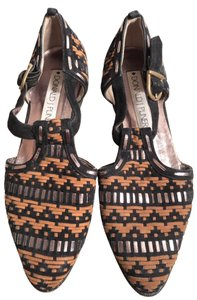 Donald J. Pliner Black/Brown/Gold Flats