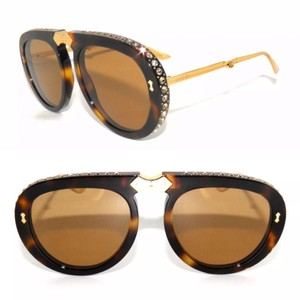 8ecc8ee61463b Gucci Red Green Gold Gg0106s 007 Gg 0106s Square Sunglasses - Tradesy