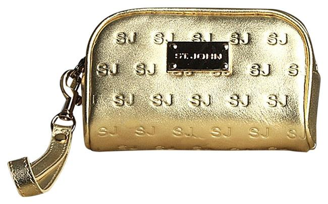 Item - Stamped Bright Gold Leather Wristlet