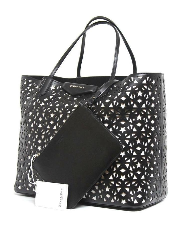 Givenchy Antigona Medium Star Perforated Black and White Leather Tote 966e589a9fdfc