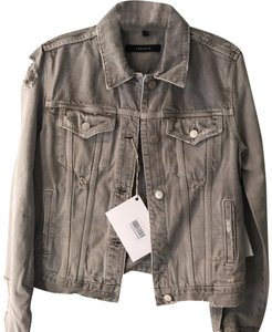 J Brand Gray Womens Jean Jacket