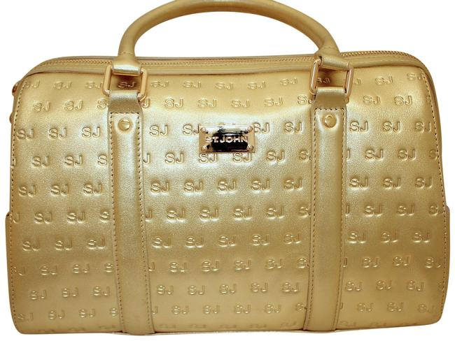 Item - Stamped Large Doctor Bright Gold Leather Tote