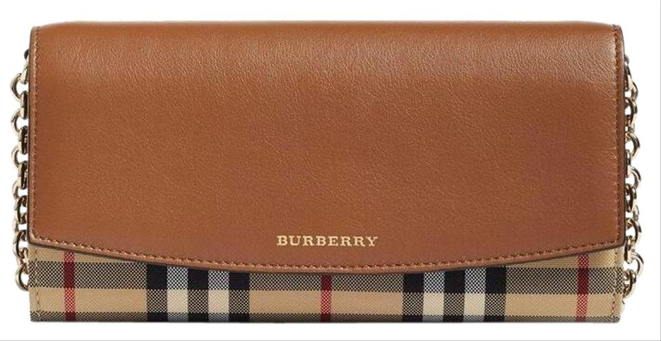 48a58b15f8c8 Burberry Henley Leather Wallet On Chain Cross Body Bag - Tradesy