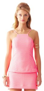 Lilly Pulitzer Fitted Strappy Jacquard Structured Pink Halter Top