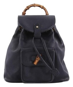 dc80872119e9 Added to Shopping Bag. Gucci Leather Backpack. Gucci Vintage Bamboo Mini ...
