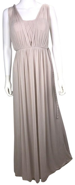 Item - Beige Women's Maxi Approximate Long Night Out Dress Size 8 (M)