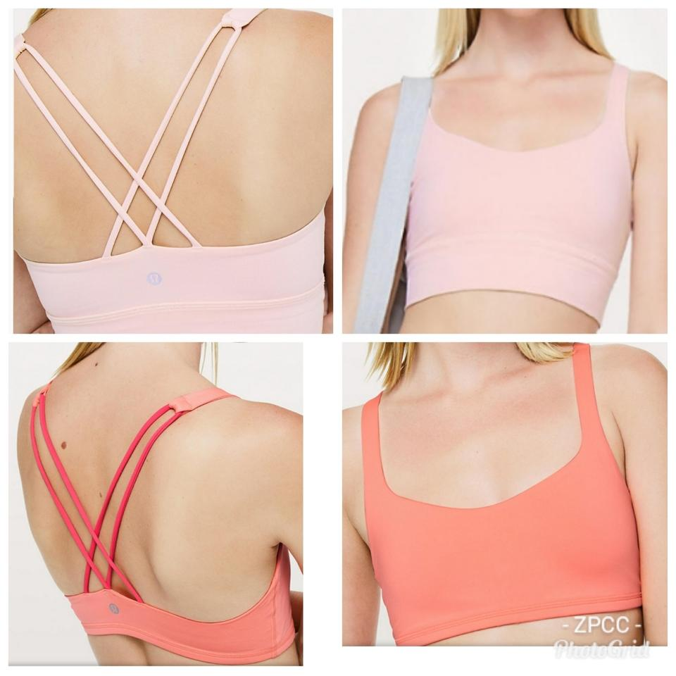 371234d2554ec Lululemon Line Pink   Coral Free To Be Long Activewear Sports Bra ...