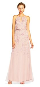 Adrianna Papell Halter Beaded Gown Dress