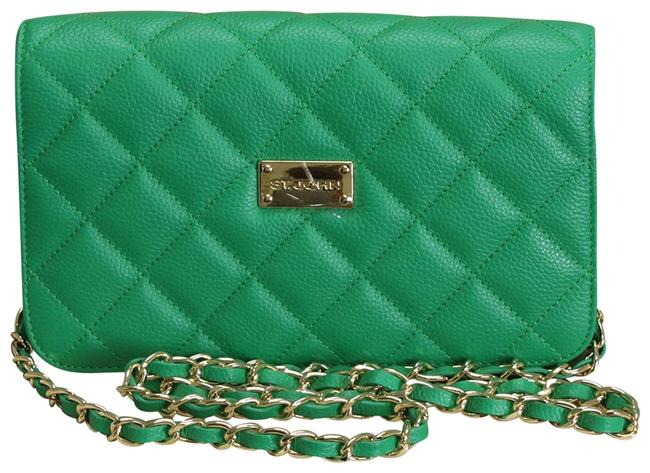 Item - Quilted Kelly Green Leather Cross Body Bag