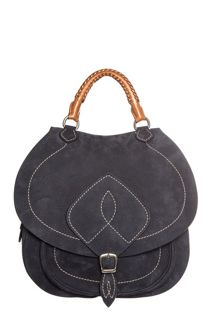 Item - Navy Saddle Blue Suede Leather Cross Body Bag