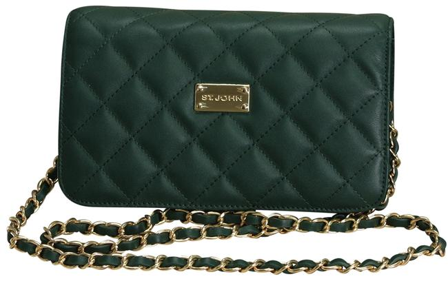 Item - Quilted Emerald Green Leather Cross Body Bag
