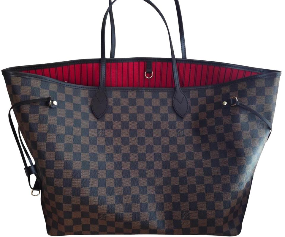 af5141ac6 Louis Vuitton Neverfull Gm Damier Ebene Brown Coated Canvas Tote ...
