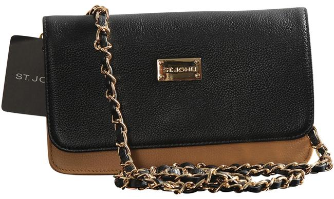 Item - Pebble Biscuit Black Gold Leather Cross Body Bag