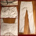"""Free People Off White/Cream White/Cream Corduroy Jeans-32"""" Inseam Skinny Jeans Size 4 (S, 27) Free People Off White/Cream White/Cream Corduroy Jeans-32"""" Inseam Skinny Jeans Size 4 (S, 27) Image 4"""
