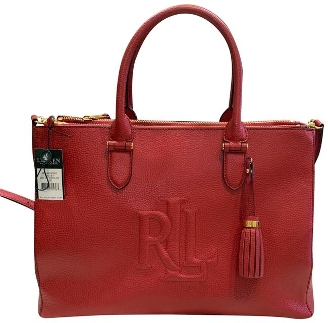 Item - Anstey Double Red Leather Satchel