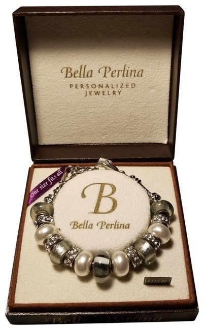 Item - White and Silver Deluxe Charm Bracelet