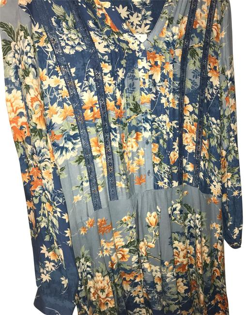Item - True Blue For Anthropologie Mid-length Short Casual Dress Size 12 (L)