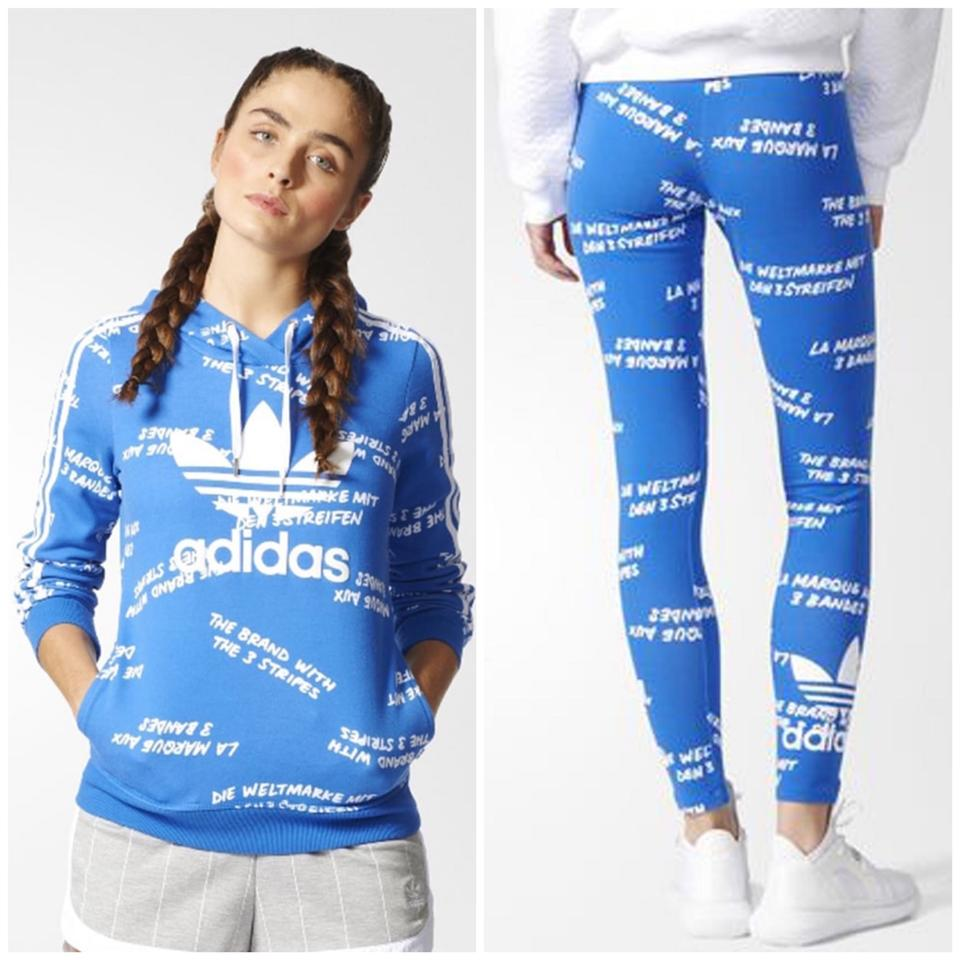 5696c4ba90e adidas Blue Aop 3 Stripes Outfit Activewear Sportswear Size 2 (XS ...