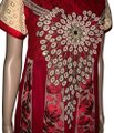 Panjabi Dree short dress red gold on Tradesy