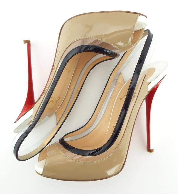 Christian Louboutin Nude Clare Sling 80 Antoinette Patent
