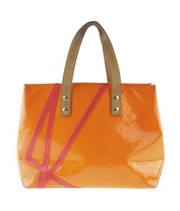Louis Vuitton Patent Leather Tote in Orange