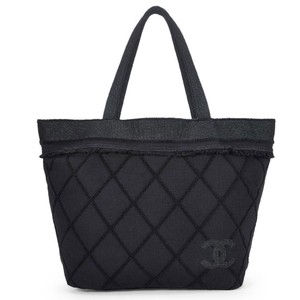 On Sale. Chanel Resort Tote Shopping Tote Travel Black Beach Bag 9eeac11d27fe7