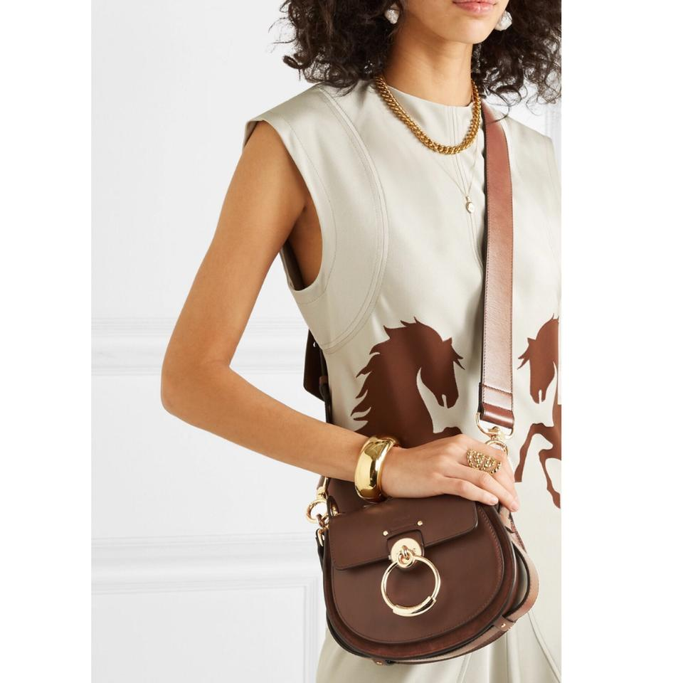 03555931587c Chloé Shoulder Tess Small Leather and Suede Cross Body Bag - Tradesy