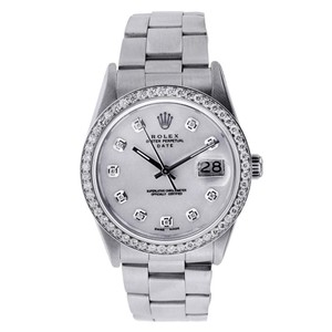 Rolex Rolex Stainless Steel Date 34mm with Diamonds Watch