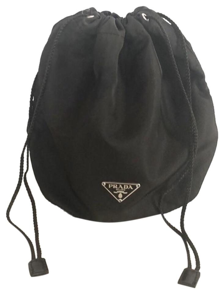 e9cb54f69f36 Prada Drawstring Made In Italy Pouch Brown Nylon Wristlet - Tradesy