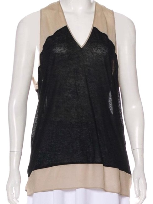 Item - Black and Beige Whelm80526 Blouse Size Petite 2 (XS)