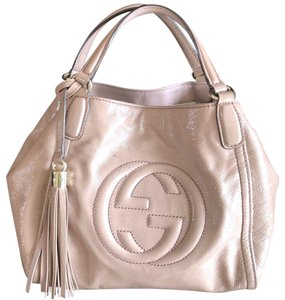 Gucci Tote Leather Soho Shoulder Satchel in Blush