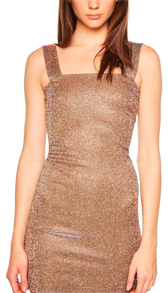 367d32fc38 Bardot Gold New with Tag Sparkle Mid-length Cocktail Dress Size 10 ...