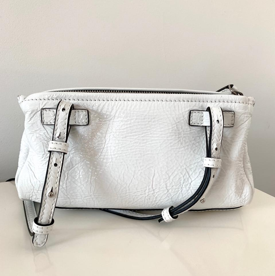 e9c2d82498 Givenchy Mini Pandora Creased Msrp White Patent Leather Cross Body ...