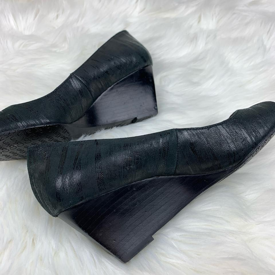 2bb65dc45a5 Calvin klein black shelley open toe heel wedges size us regular tradesy jpg  960x960 Tradesy oatmeal