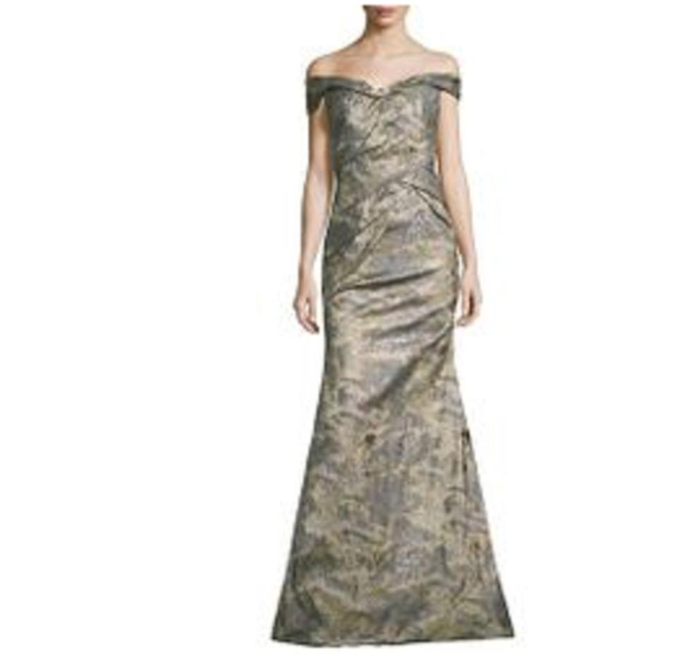22fd9c8903dd Rene Ruiz Metallic Women's Off-the-shoulder Textured Draped Gown Formal  Dress