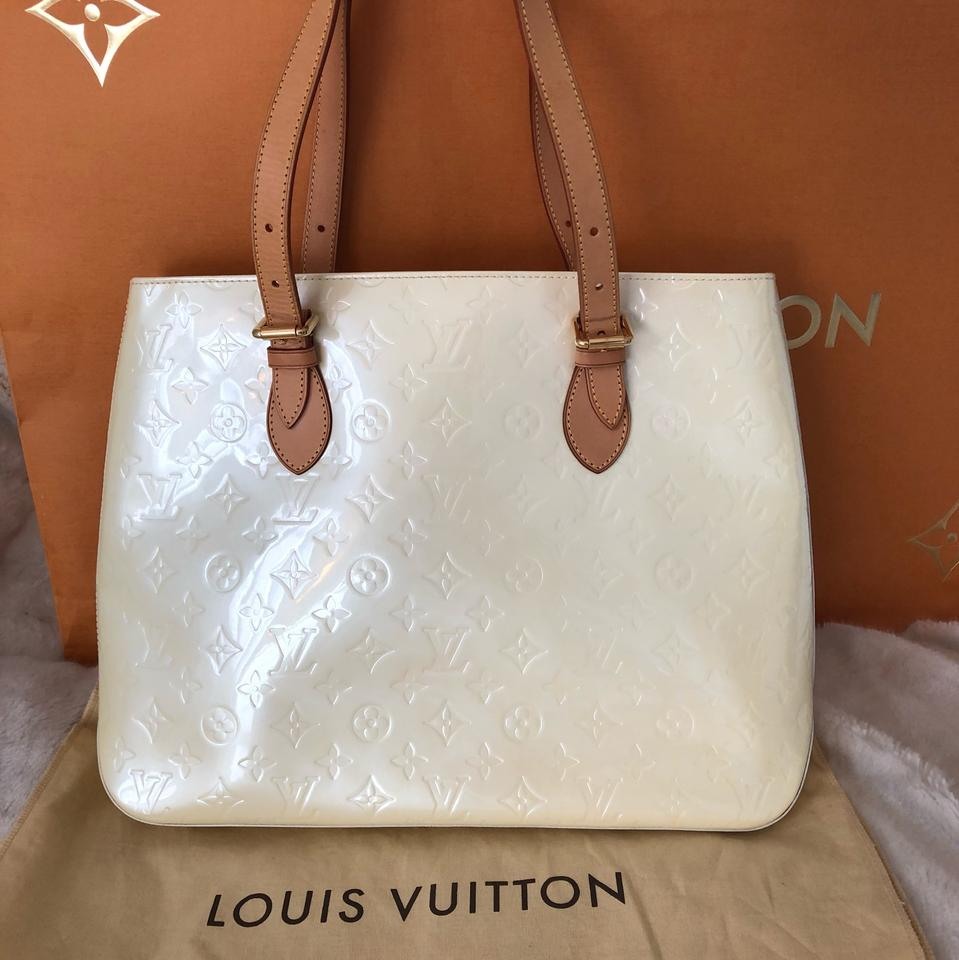 b518aeefbb23 Louis Vuitton Brentwood Monogram Vernis In Pearl Patent Leather ...