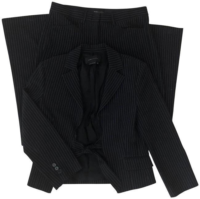 Item - Black With White Pinstripe Pant Suit Size 2 (XS)
