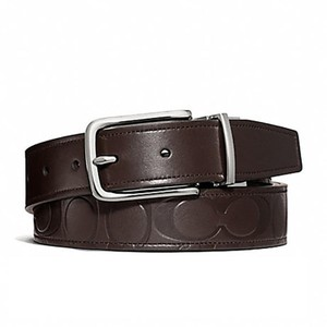 d226a1676186 Coach New Coach Signature Embossed Leather Cut-to-size Reversible Belt F6612