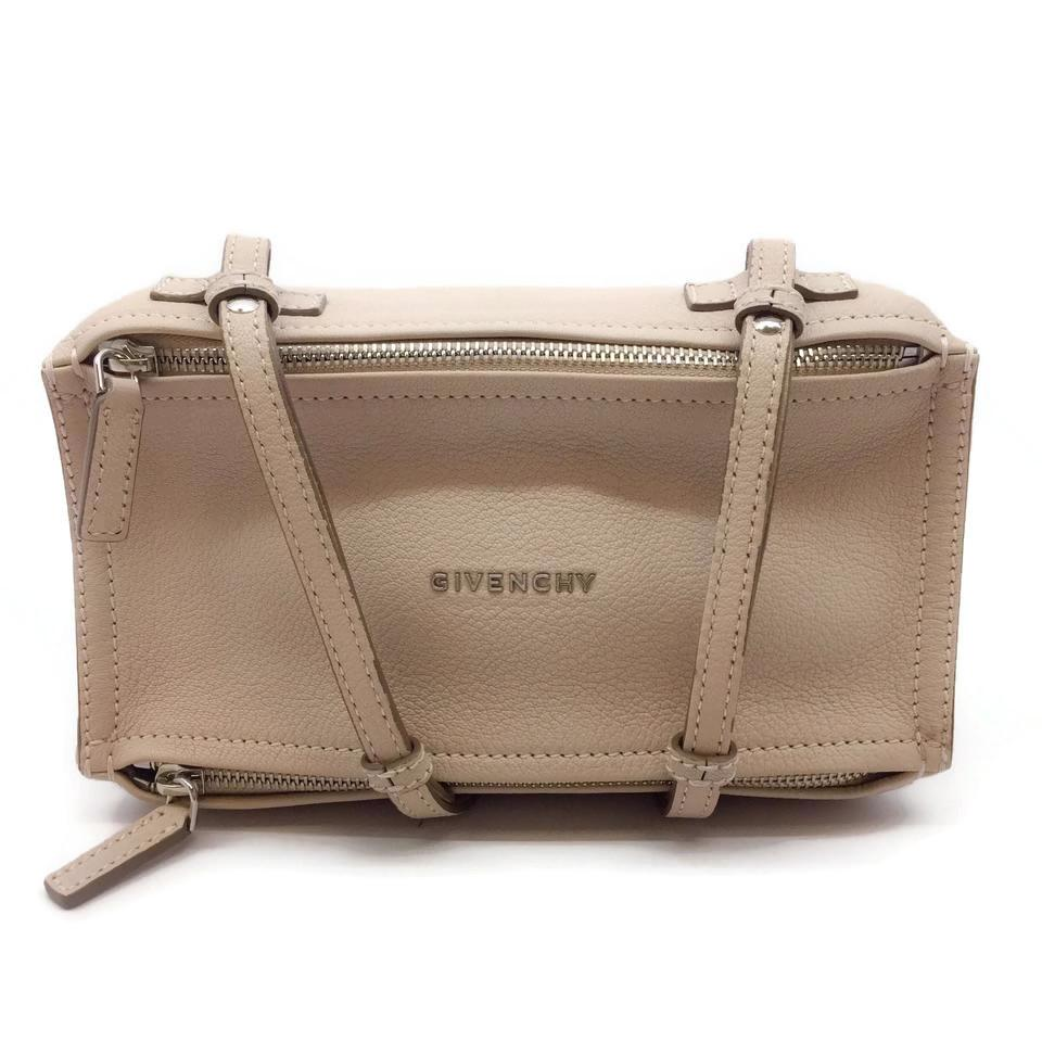 c35032eefd50d Givenchy Mini Pandora Off White Goat Skin Leather Cross Body Bag ...