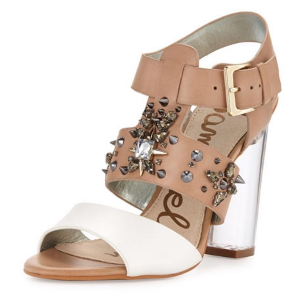 f3d998a66ab217 Sam Edelman Tan White Yara Sandals Size US 8 Regular (M