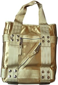 Juicy Couture Satin Zipper Summer Tote in Yellow