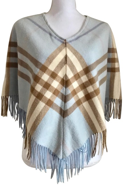 Burberry Light Sky Blue Euc Vintage Nova Check Poncho/Cape Size OS (one size) Burberry Light Sky Blue Euc Vintage Nova Check Poncho/Cape Size OS (one size) Image 1